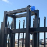Strobe warning gate and fence system