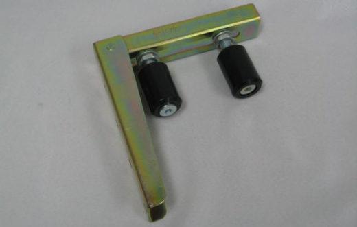 Glide roller gate bracket