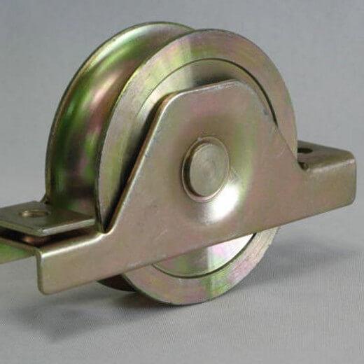 Sliding gate wheel fence hardware